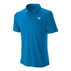 Men`s Tennis Training Polo Imperial and Brilliant Blue