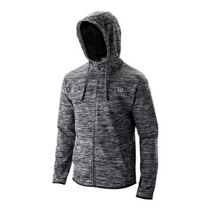 Men`s Hooded Tennis Training Jacket Black