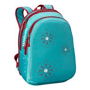 Junior Tennis Backpack Blue and Pink