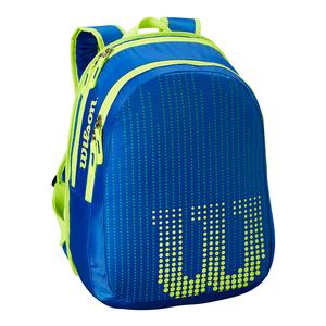 Junior Tennis Backpack Blue and Yellow