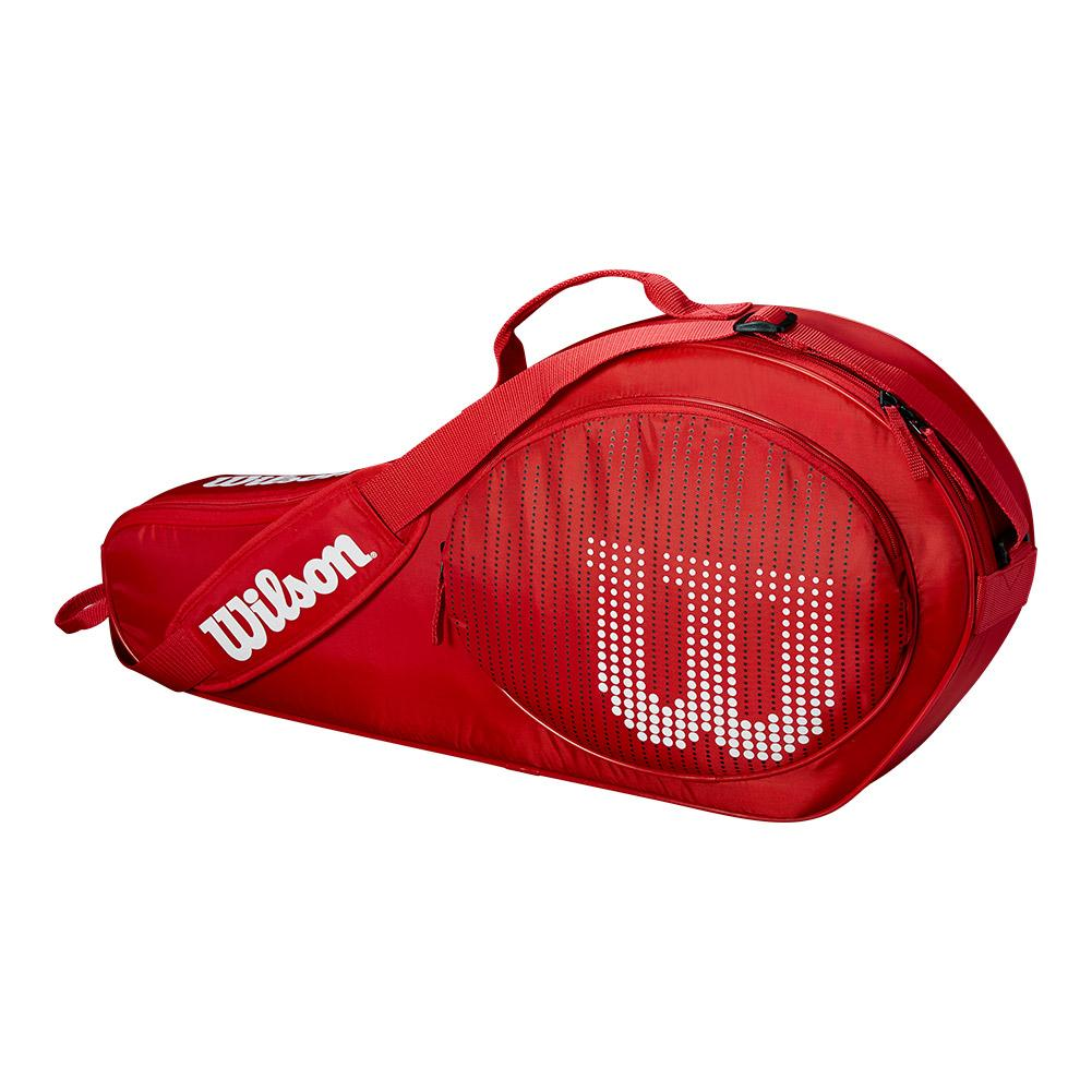 Junior 3 Pack Tennis Bag Red And White