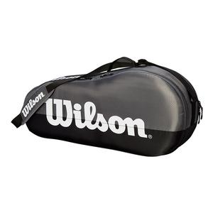 Team 1 Compartment Tennis Bag Gray and Black