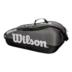 Team 2 Compartment Tennis Bag Gray and Black
