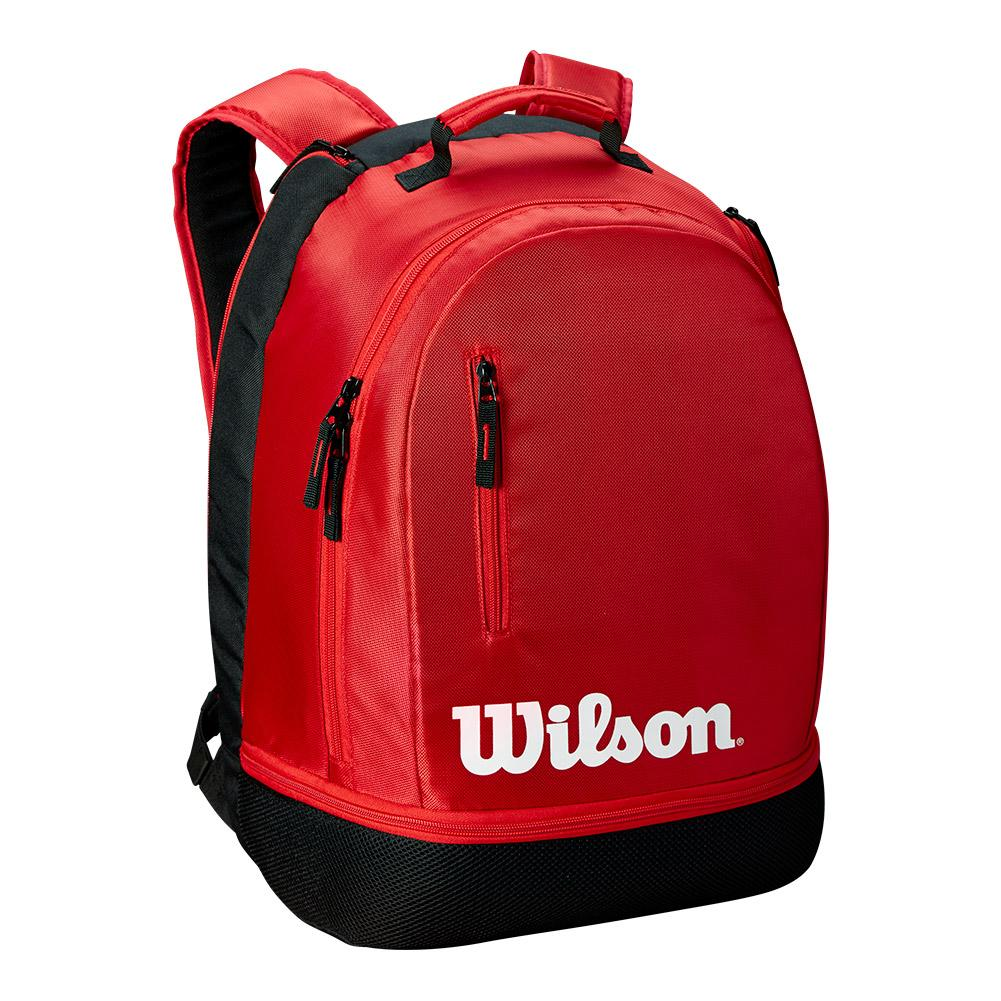 Team Tennis Backpack Black And Red