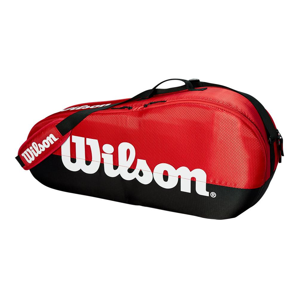 Team 1 Compartment Small Tennis Bag Black And Red