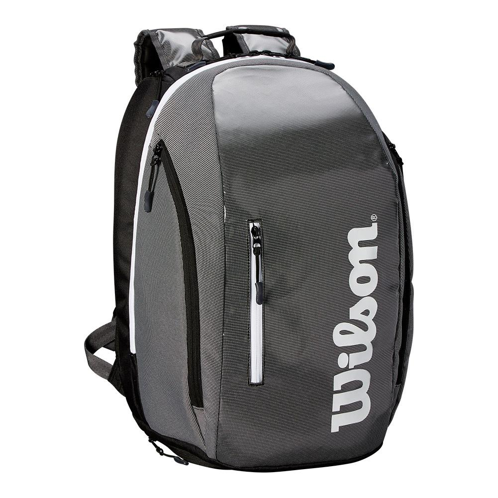 Super Tour Tennis Backpack Black And Gray