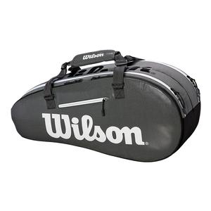 Super Tour 2 Compartment Small Tennis Bag Black and Gray