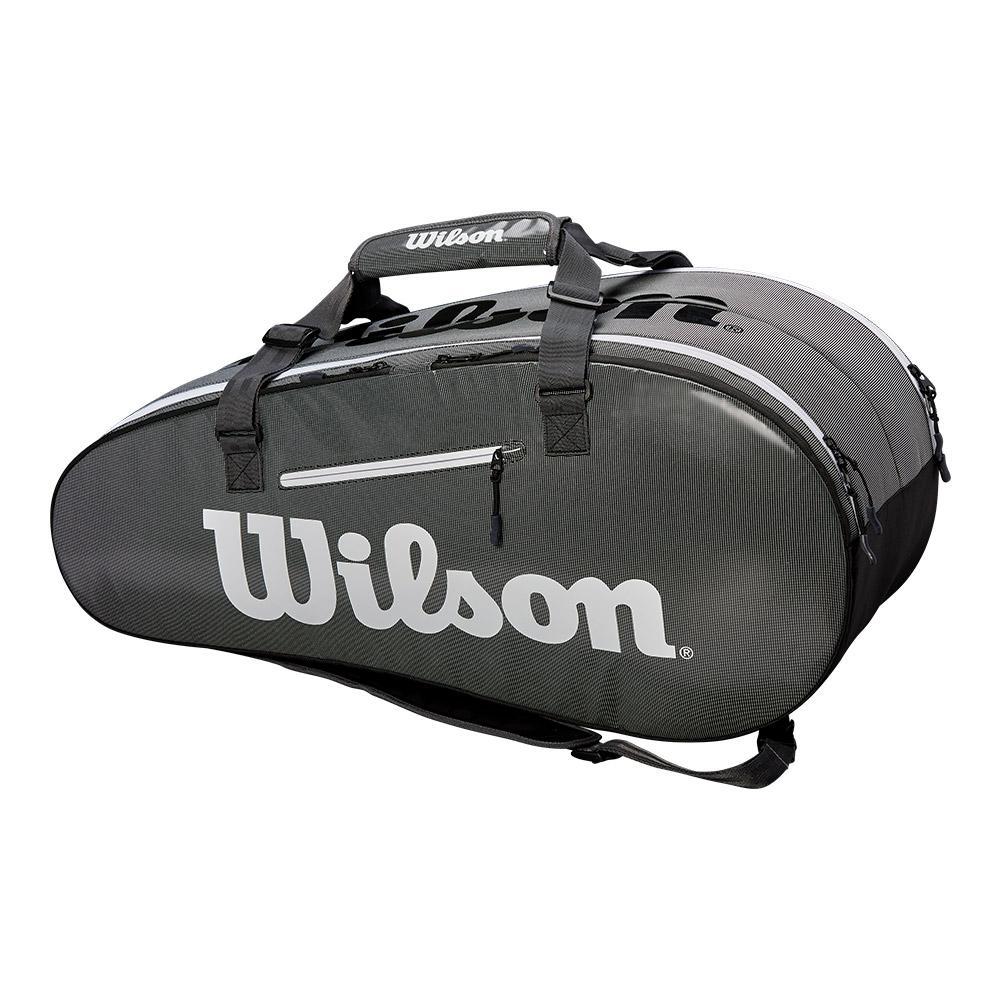 Super Tour 2 Compartment Large Tennis Bag Black And Gray