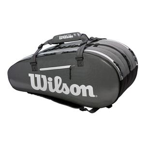 Super Tour 3 Compartment Tennis Bag Black and Gray