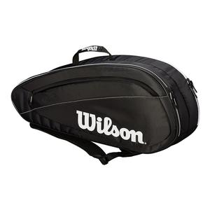 Fed Team 6 Pack Tennis Bag Black and White