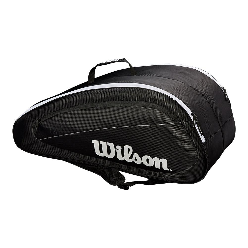 Fed Team 12 Pack Tennis Bag Black And White