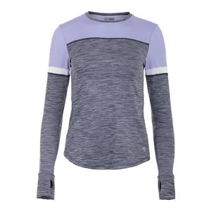 Women`s Pacer Tennis Top Dark Navy Heather and Iris