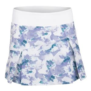 Women`s Topspin 13 Inch Tennis Skort Light Water Camo Print