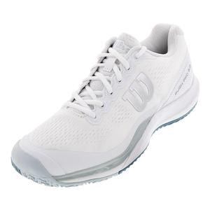 Men`s Rush Pro 3.0 Tennis Shoes White and Pearl Blue