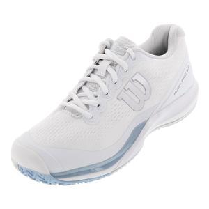 NEW Women`s Rush Pro 3.0 Tennis Shoes White and Cashmere Blue Wilson ... e51b85240d1