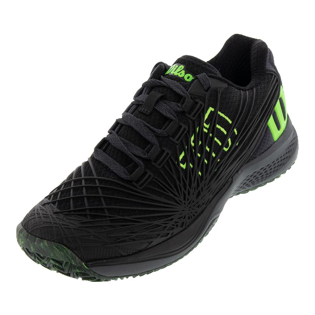 Juniors ` Kaos 2.0 Tennis Shoes Black And Green Gecko