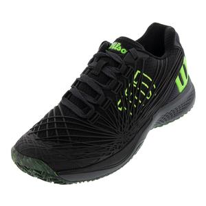 Juniors` Kaos 2.0 Tennis Shoes Black and Green Gecko
