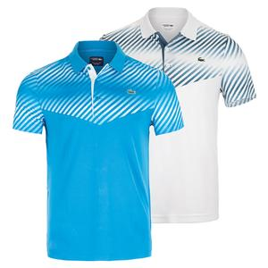 Men`s Ultra Dry Color Blocked Gradient Tennis Polo