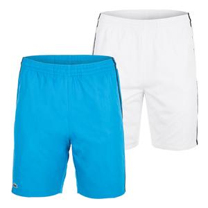 Men`s Color Block Drawstring Tennis Short