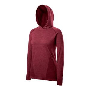 Women`s F2 Seamless Tennis Hoody Tibetan Red and Tawny Port