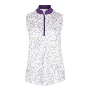 Women`s Sleeveless Mock Tennis Top Sierra Swirl