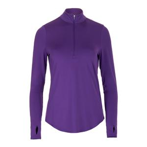 Women`s UV Mock Tennis Top Purple Mist