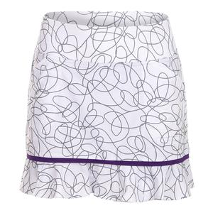 Women`s Piped Ruffle Tennis Skort Sierra Swirl