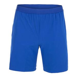 Men`s Novak Djokovic 7 Inch Stretch Woven Tennis Short Paquebot and Noir