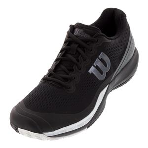Men`s Rush Pro 3.0 Tennis Shoes Black and White