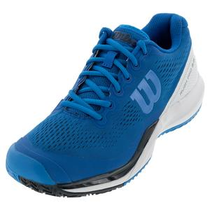 Men`s Rush Pro 3.0 Tennis Shoes Imperial Blue and White
