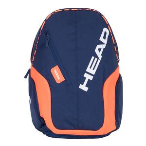 Rebel Tennis Backpack Blue and Orange
