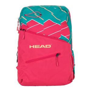 Women`s Tennis Backpack Pink and Green