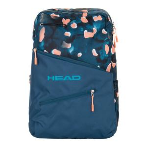Women`s Tennis Backpack Blue and Coral