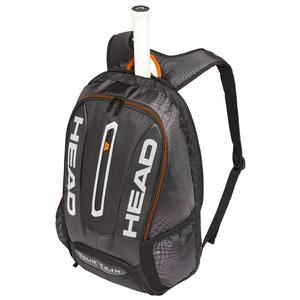 Tour Team Tennis Backpack Black and Silver