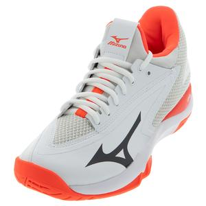 Women`s Wave Impulse AC Tennis Shoes White and Fiery Coral
