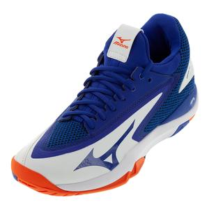 Men`s Wave Impulse AC Tennis Shoes White and Reflex Blue