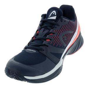 Men`s Sprint Pro 2.5 Tennis Shoes Dark Blue and Neon Red