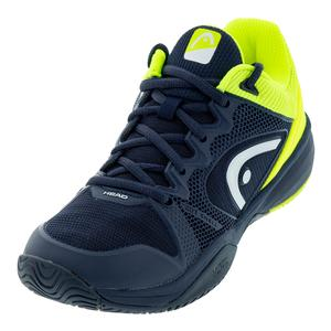 Juniors` Revolt Pro 2.5 Tennis Shoes Dark Blue and Neon Yellow