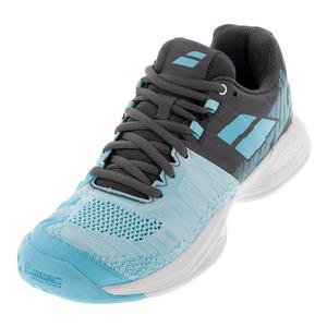 Women`s Propulse Blast All Court Tennis Shoes Gray and Blue Radiance