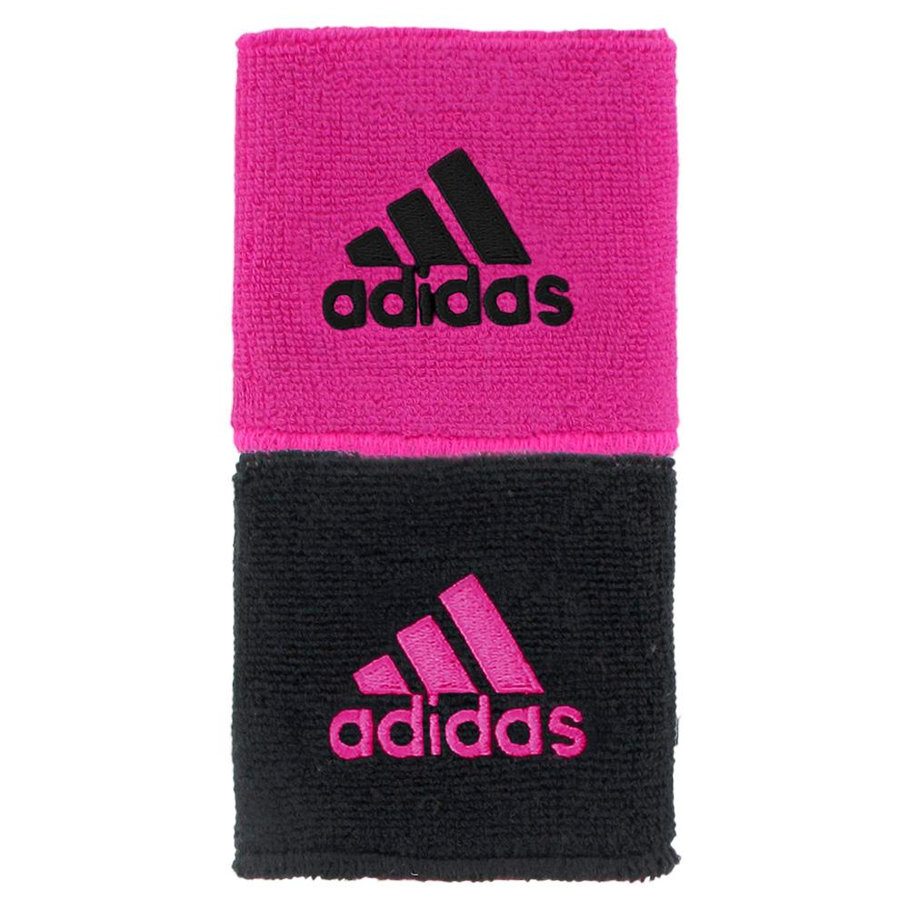 Interval Reversible Wristband Shock Pink And Black