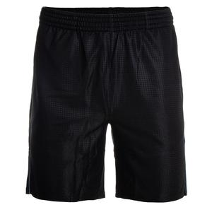 Men`s Set Point Embossed Tennis Short Black