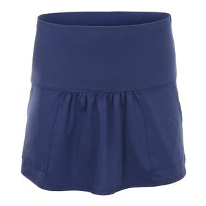 Women`s Long Pocket Tennis Skirt Blueberry