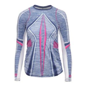 Women`s Long Sleeve Tennis Top Shape it Up Print