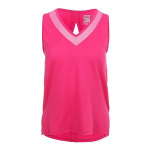 Women`s Diamond Back Tennis Tank Raspberry