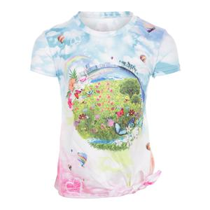Girls` Tie Knot Tennis Tee Fantasy