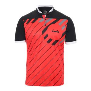 Men`s Short Sleeve Tennis Polo Ferrari Red