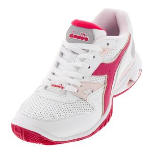 Women`s S Star K Ace AG Tennis Shoes White and Red