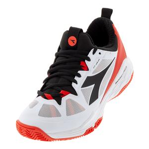 Men`s Speed Blushield Fly 2 Clay Tennis Shoes White and Granadine