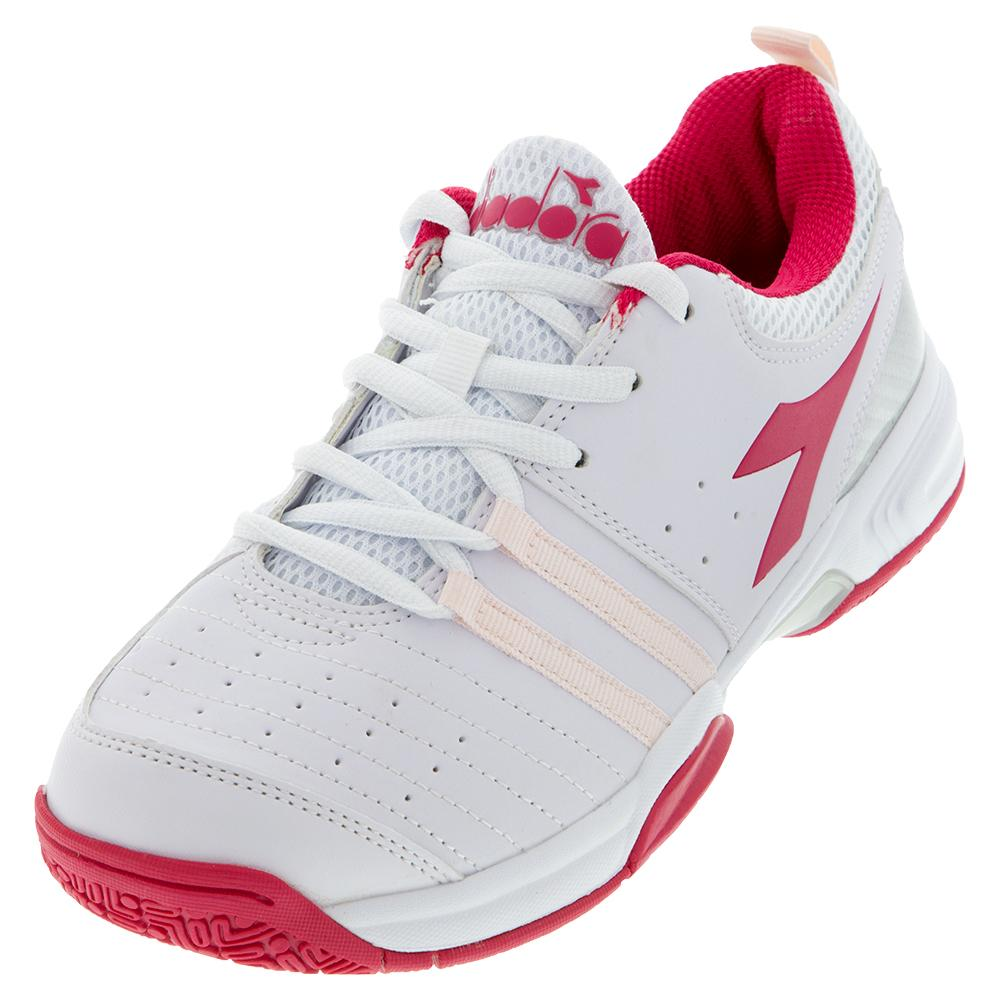 Juniors's Fly 2 Tennis Shoes White And Red