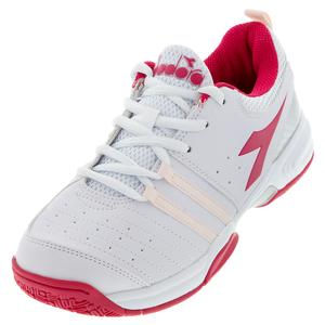 Juniors` S Fly 2 Tennis Shoes White and Red Virtual Pink